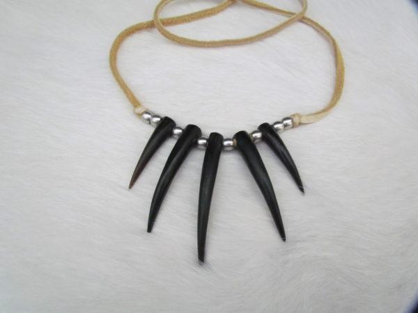 5 claw necklace black bone
