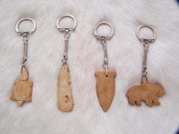 Bone pendant keyrings
